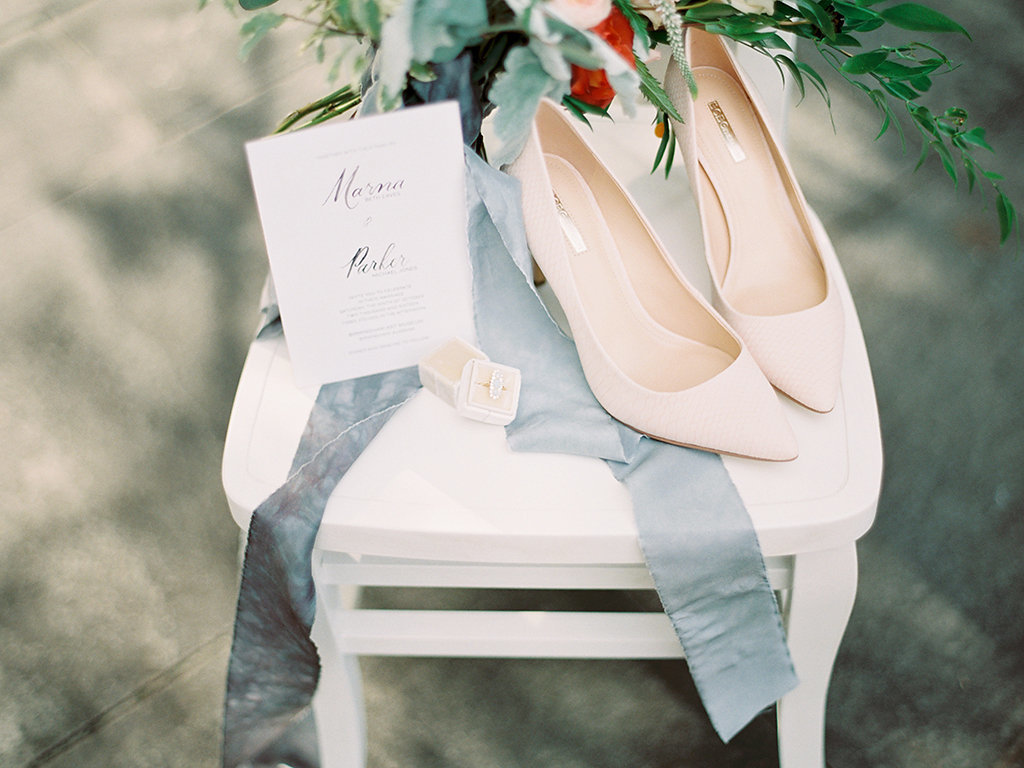 Bouquet, invitaiton details | art museum elopement wedding