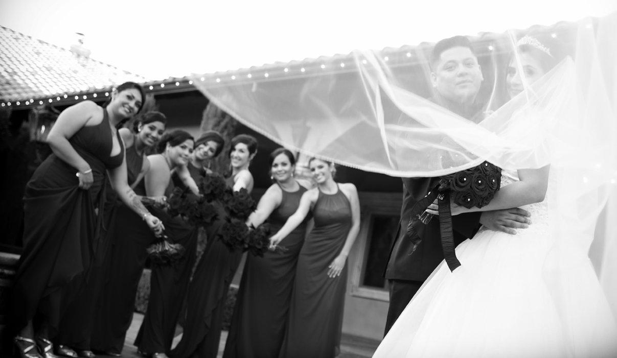 Wedding Dream veil at Villa Siena