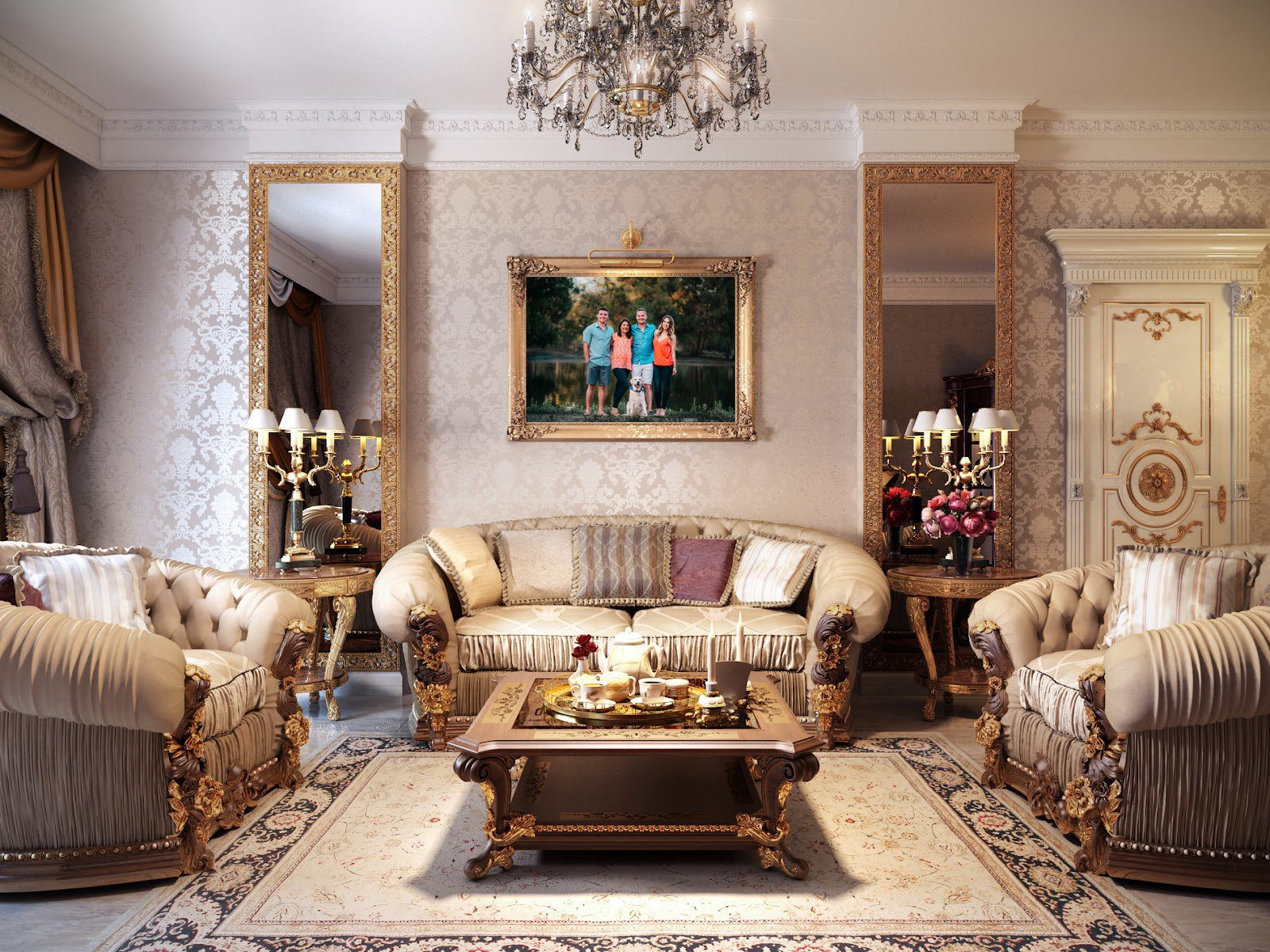 Luxury Family LIving Portrait