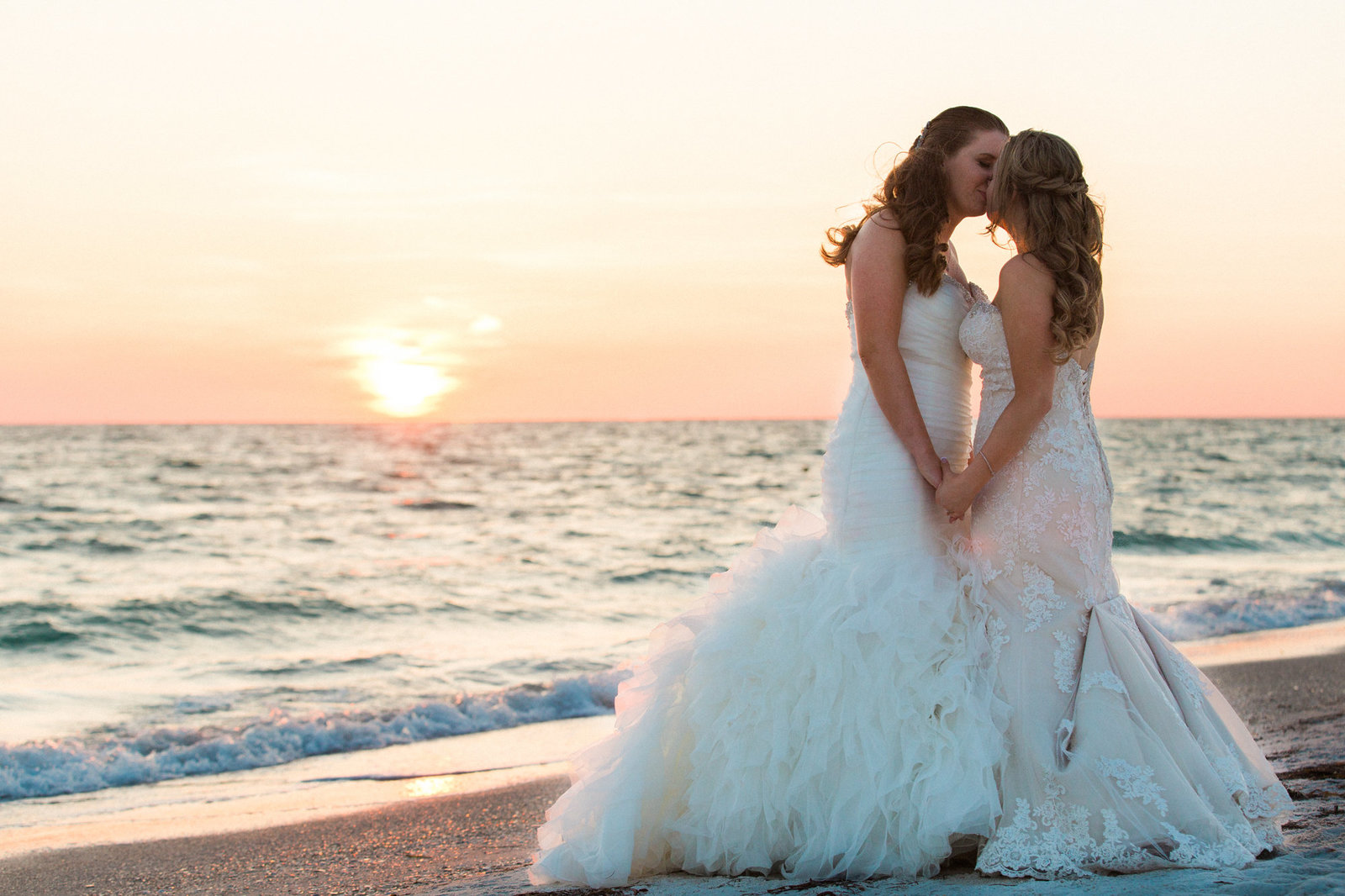 Destination Wedding Photographer Jess Collins Photography at St. Pete's Beach Wedding Venue the Grand Plaza Resort with Same Sex couple for their destination wedding in Florida