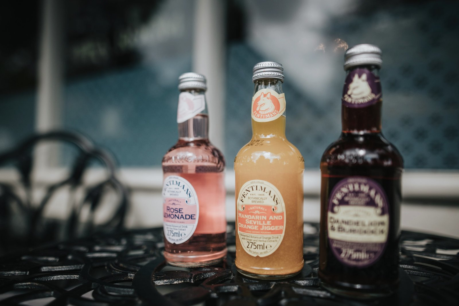 Selection of Fentimans traditional soft drinks that are available at Baldry's Grasmere