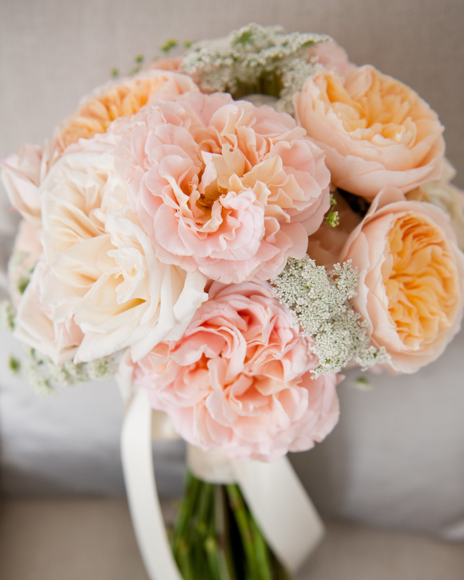 Pink Peonies & Garden Roses from a Chicago Wedding