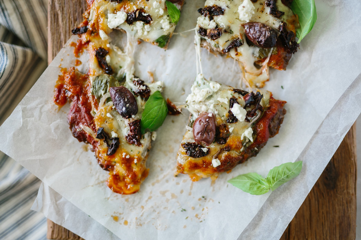 Gluten Free Greek Pizza Meatza by Colorful Eats-9