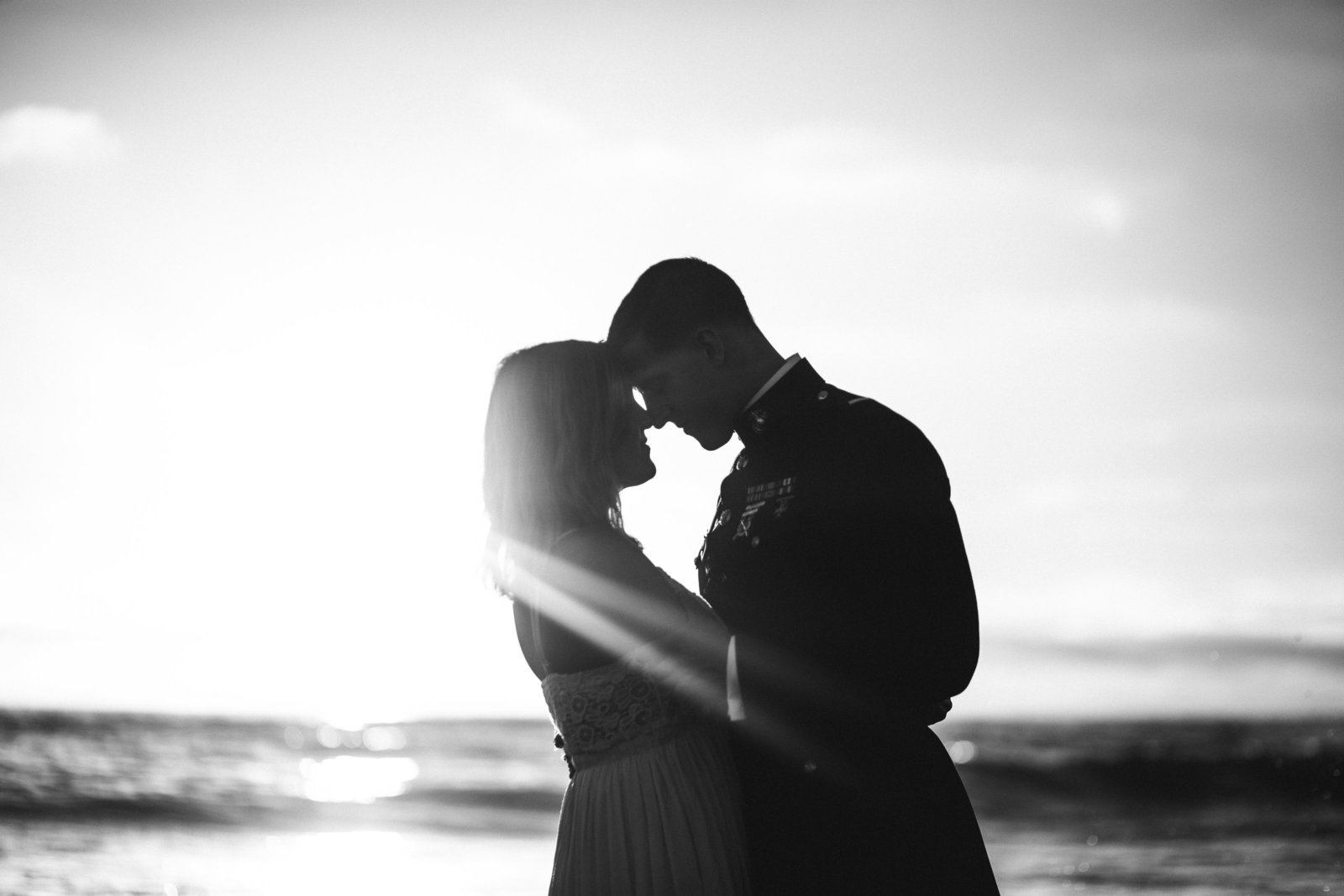 Engagement session during golden hour in San Diego, CA