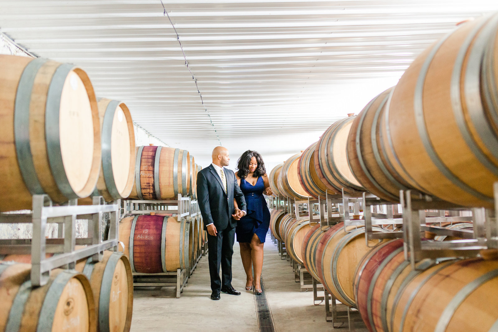 Linganore Winery engagement session as captured by Ashton Kelley Photography