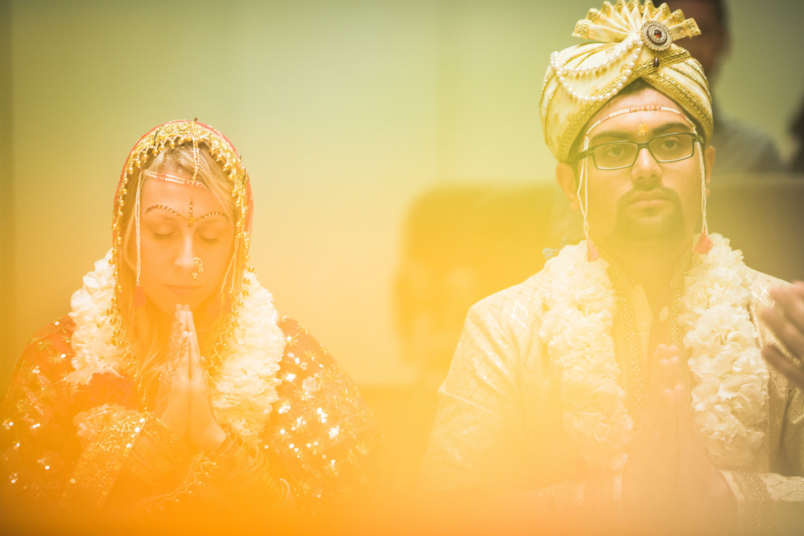 Spring Hindu wedding in Toledo Ohio at the Toledo Hindu Temple. Photo by: Adore Wedding Photography - Toledo Ohio Wedding Photographers
