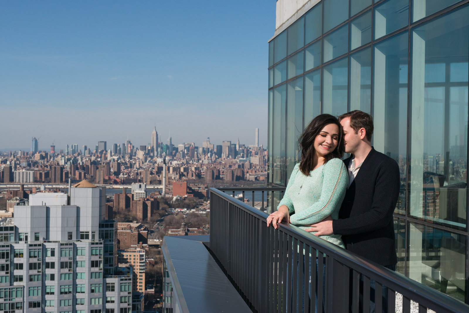 Manhattan Skyline Engagement Photos