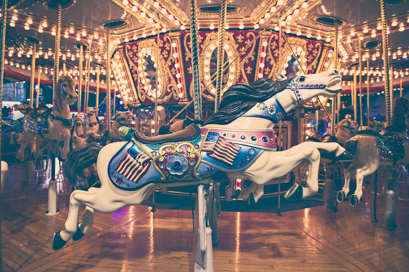 Carousel horse at Orange County Fair