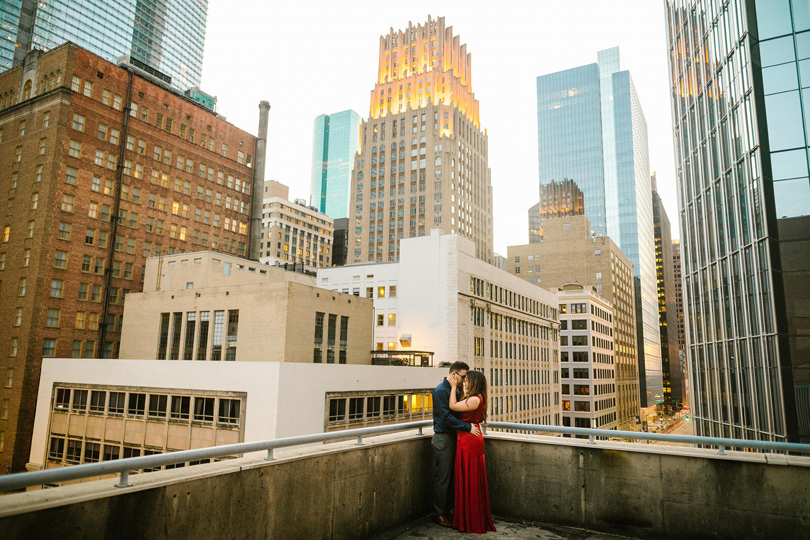Kori+Tommy_Memorial Park and Downtown Houston Engagements_40