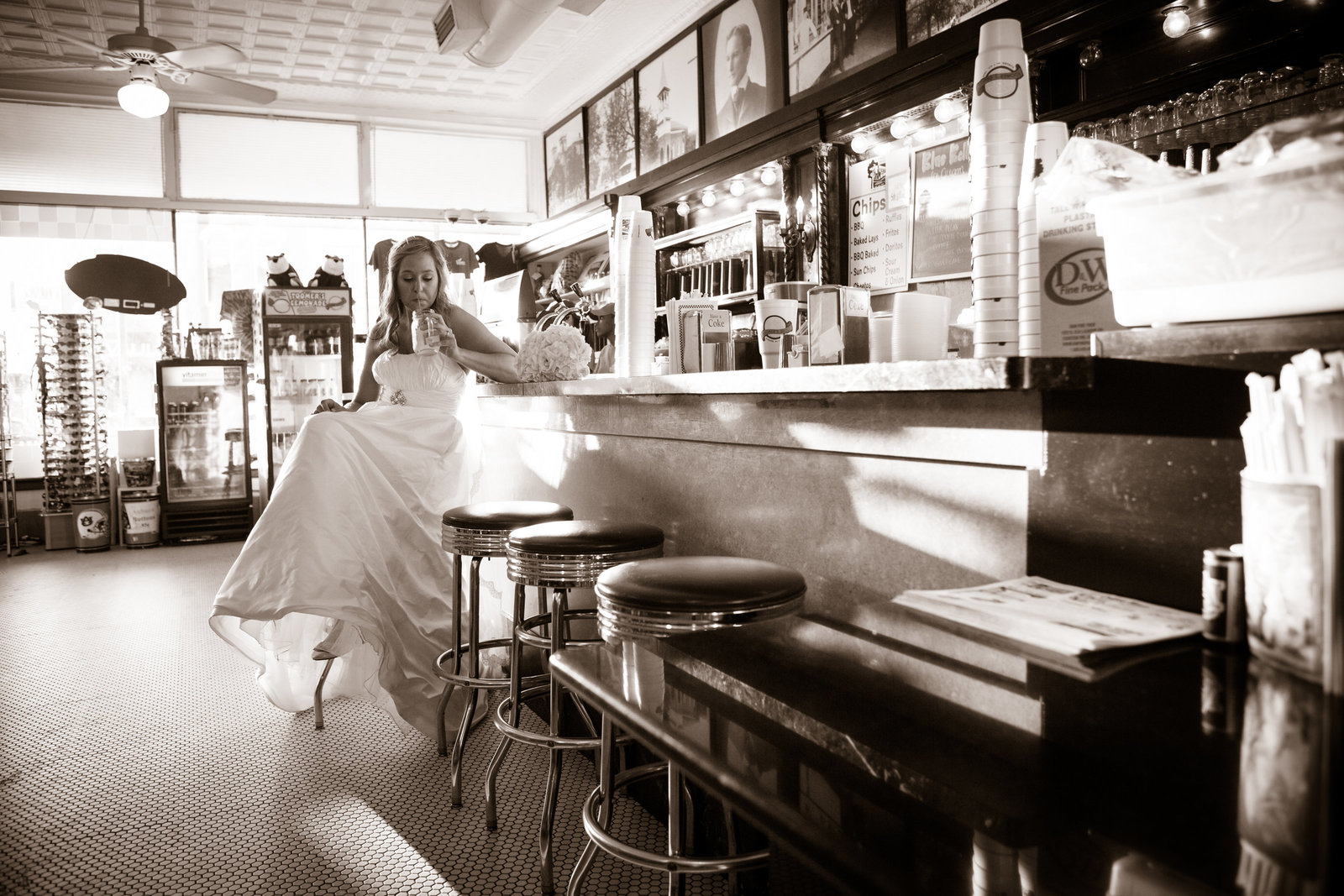 Sissy Tomlinson bridal session at Toomer's Corner in Auburn, Alabama.