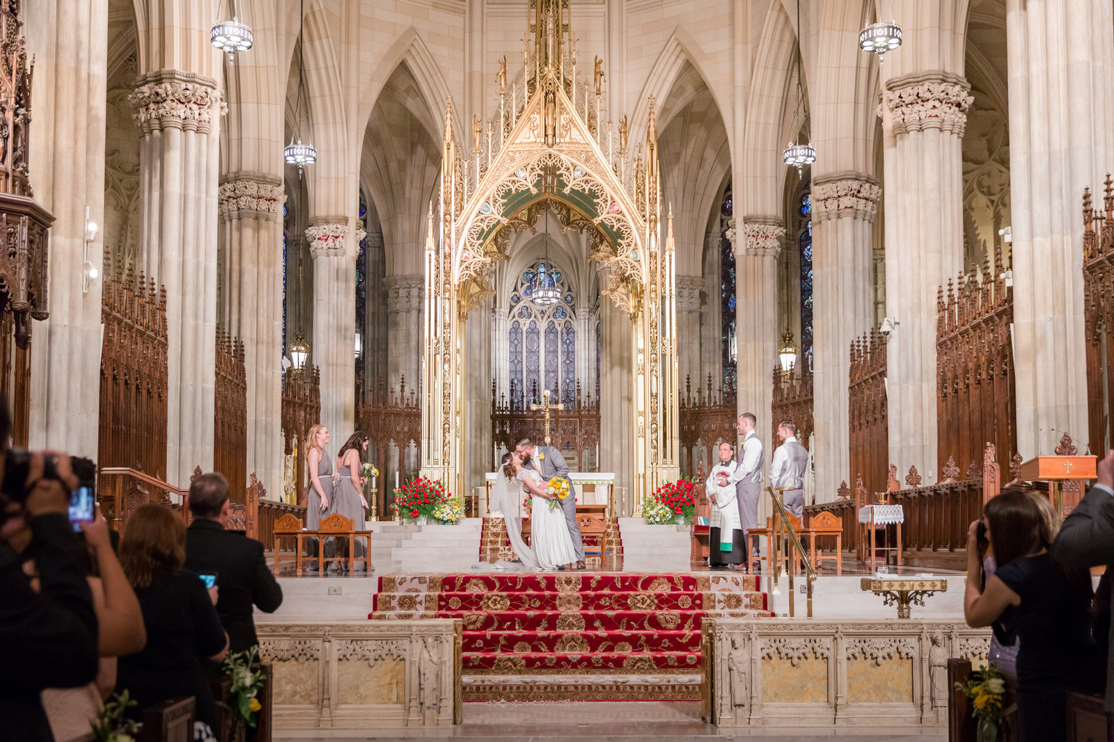 St. Patrick's Cathedral Wedding Photo