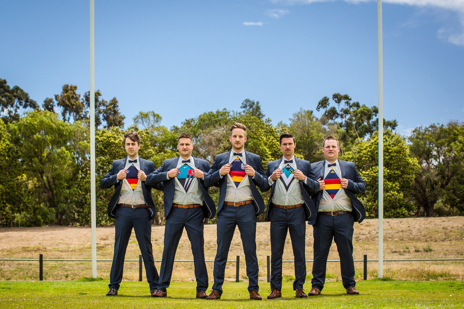 superman port adelaide crows AFL wedding groomsmen