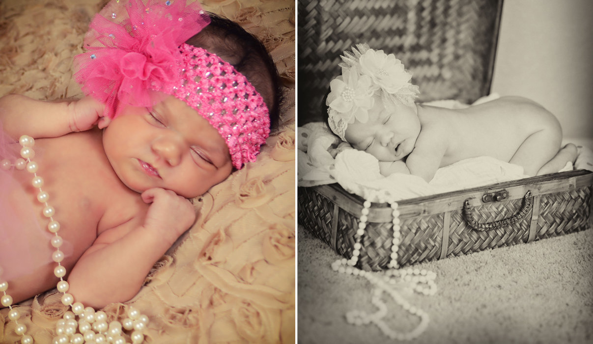 Newborn Session vintage outfits