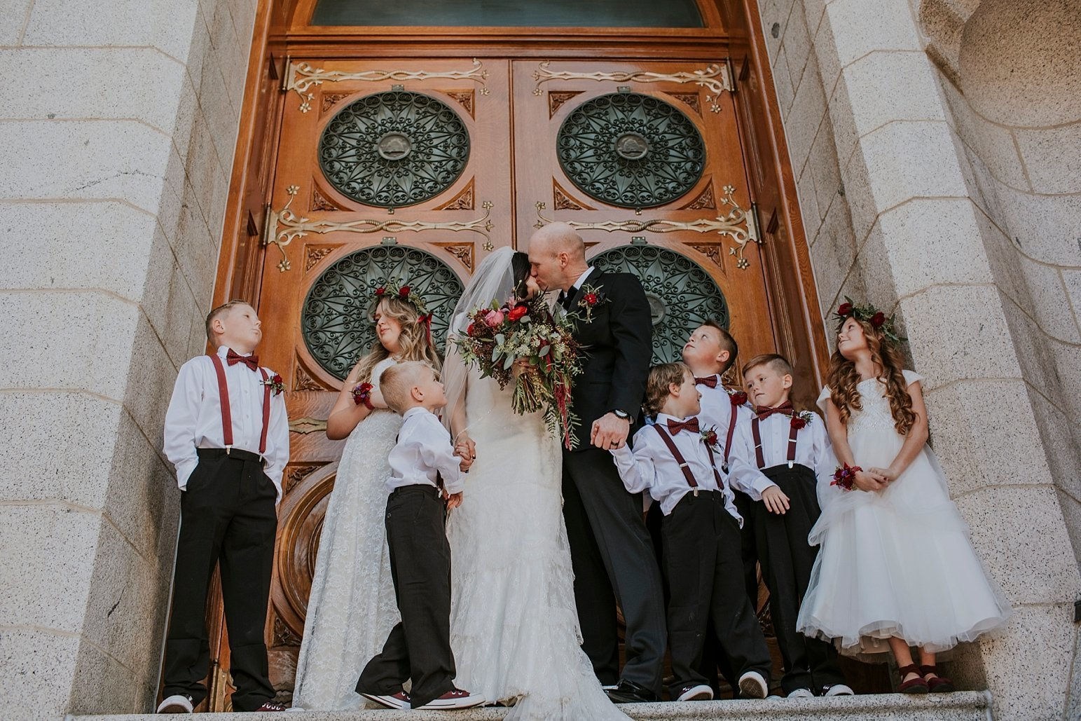 Utah Wedding Photographer Kamille Bauer Cody Calderwood Salt Lake Temple Salt Lake Hardware Building_0288