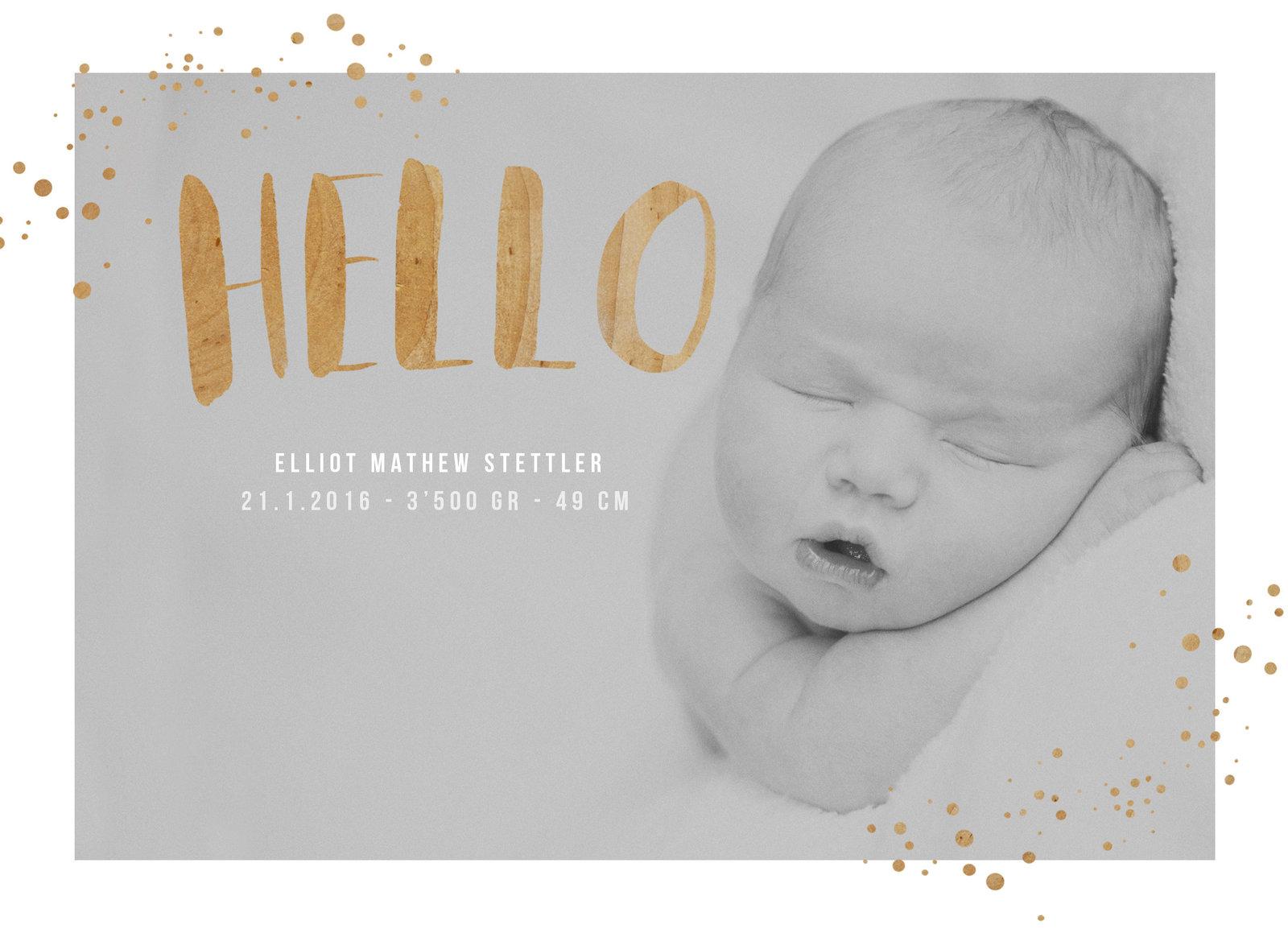 Geburtskarte, wunderschön, modern