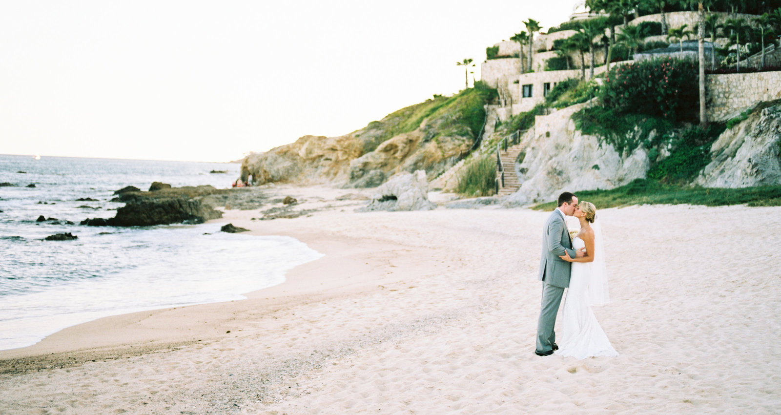 Cabo Mexico Destination Wedding, Bride & Groom Portraits, Fine Art Film