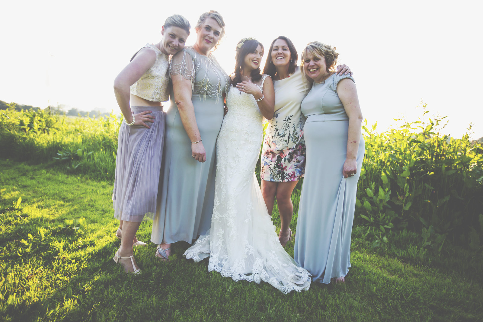Wedding photographer from Norwich Jessica Elisze photographs a bride and her friends.