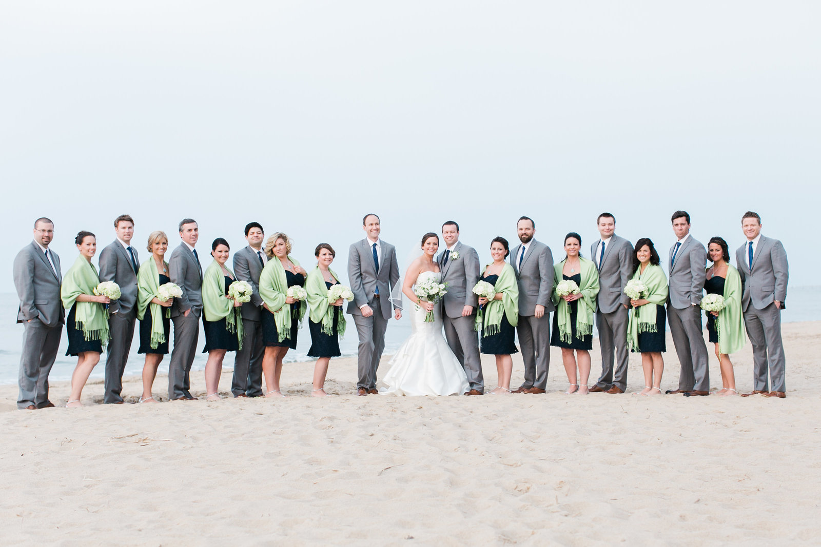 Hilton Virginia Beach Oceanfront Navy and Lime Wedding | Elizabeth Friske Photography | Megan and Harrison-95