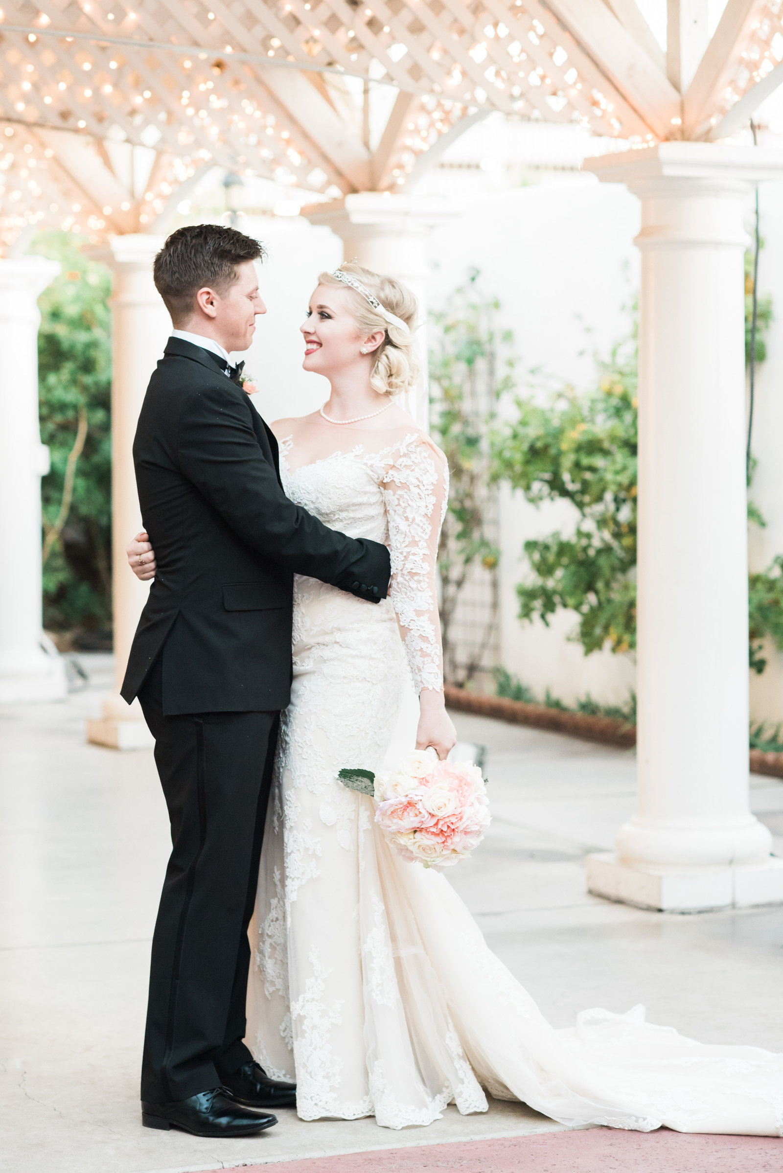 Z Mansion Downtown Retro and Classic Bride and Groom Wedding Photo