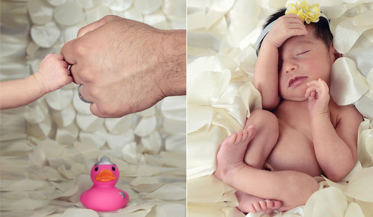 Newborn Session have 5 daddy