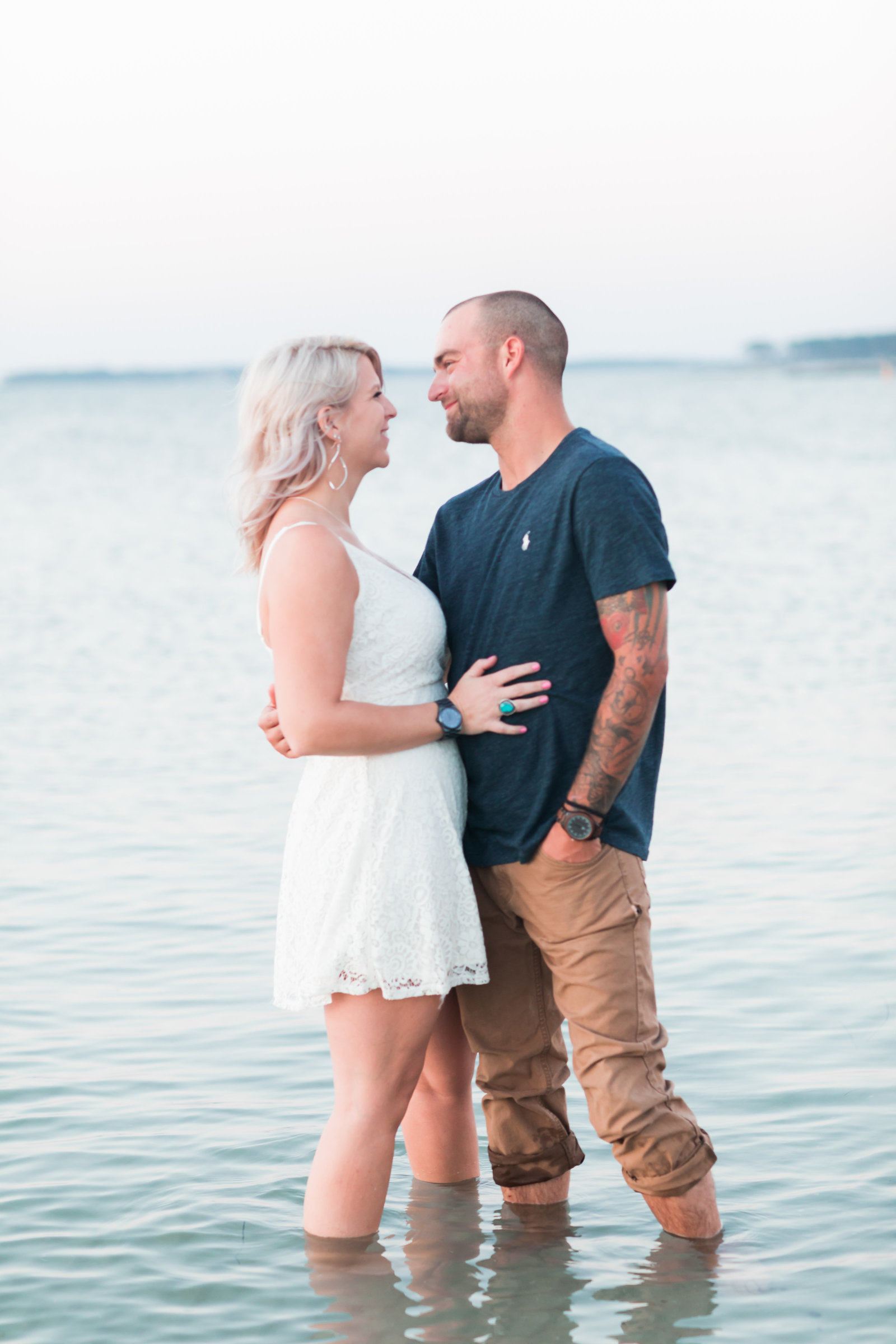 Cape Charles Sunset Engagement Session by Elizabeth Friske Photography-19