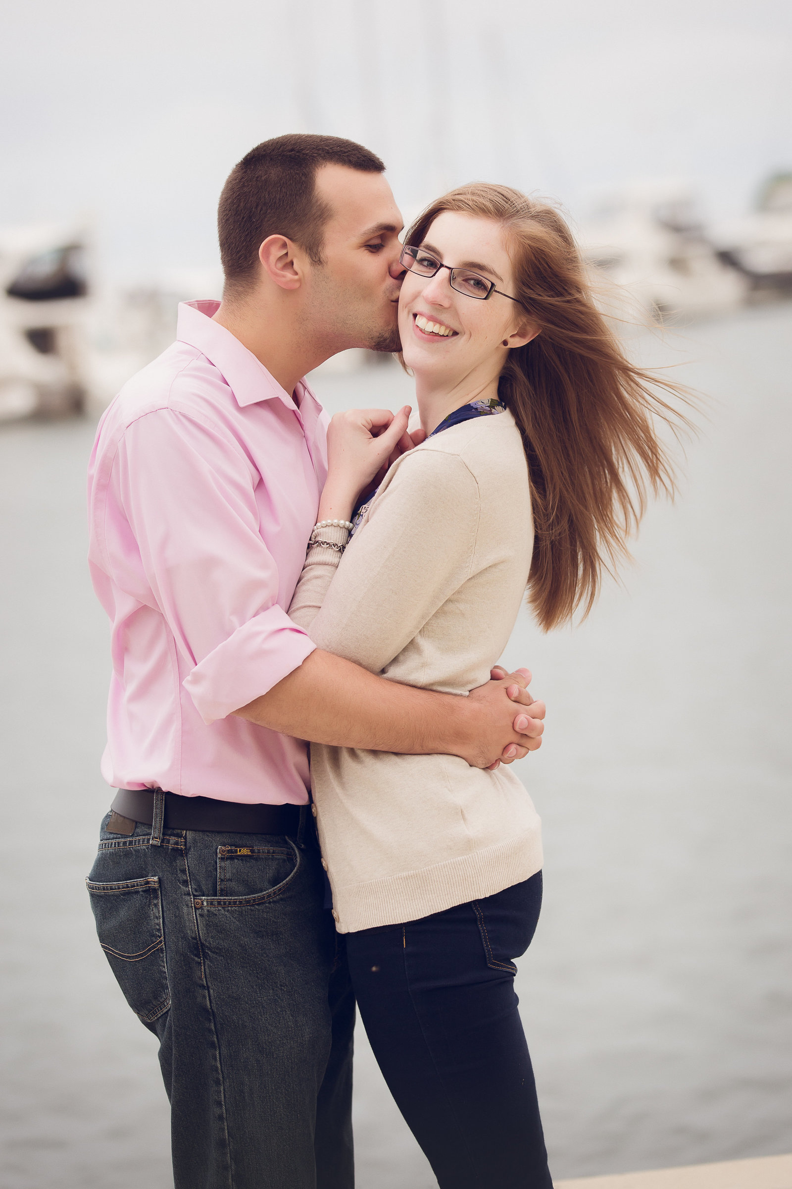 lake-front-engagement-session