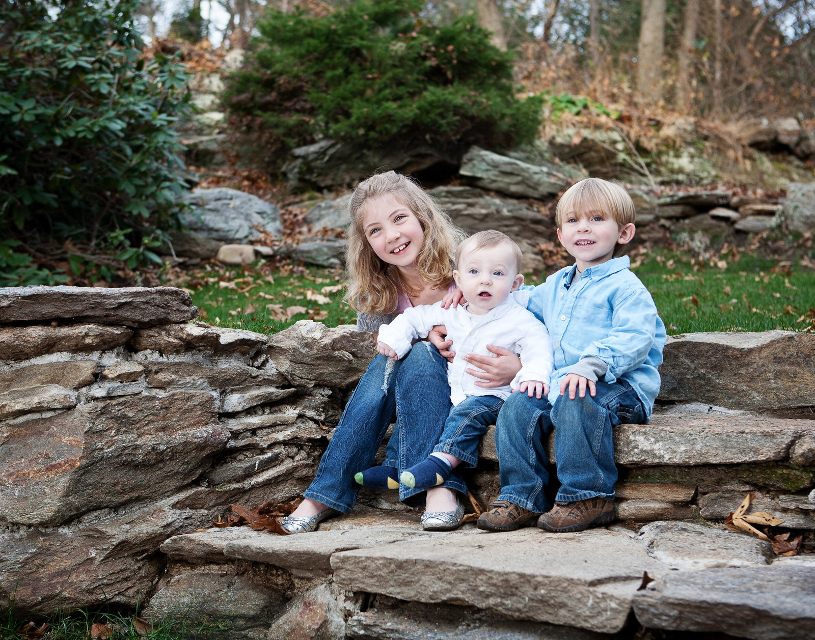 Cousins - Fairfield CT kids portrait by Hudson Valley NY family and children's photographer