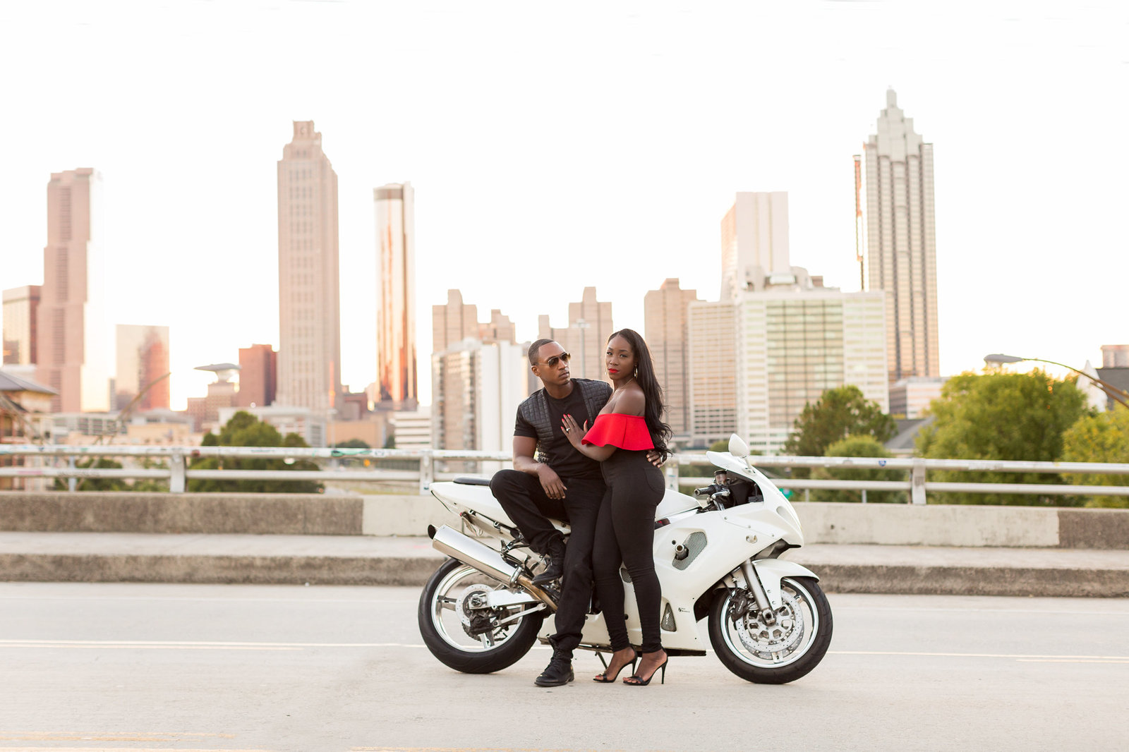 Atlanta Engagement Session - Jackson Street Bridge - Mecca Gamble Photography