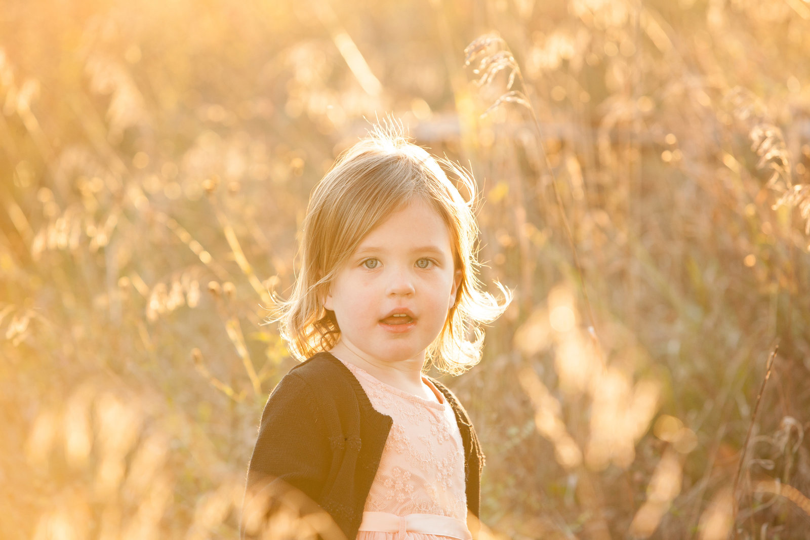 beautiful backlit sunset outdoor child photography by Hudson Valley professional children's photographer in Cornwall NY