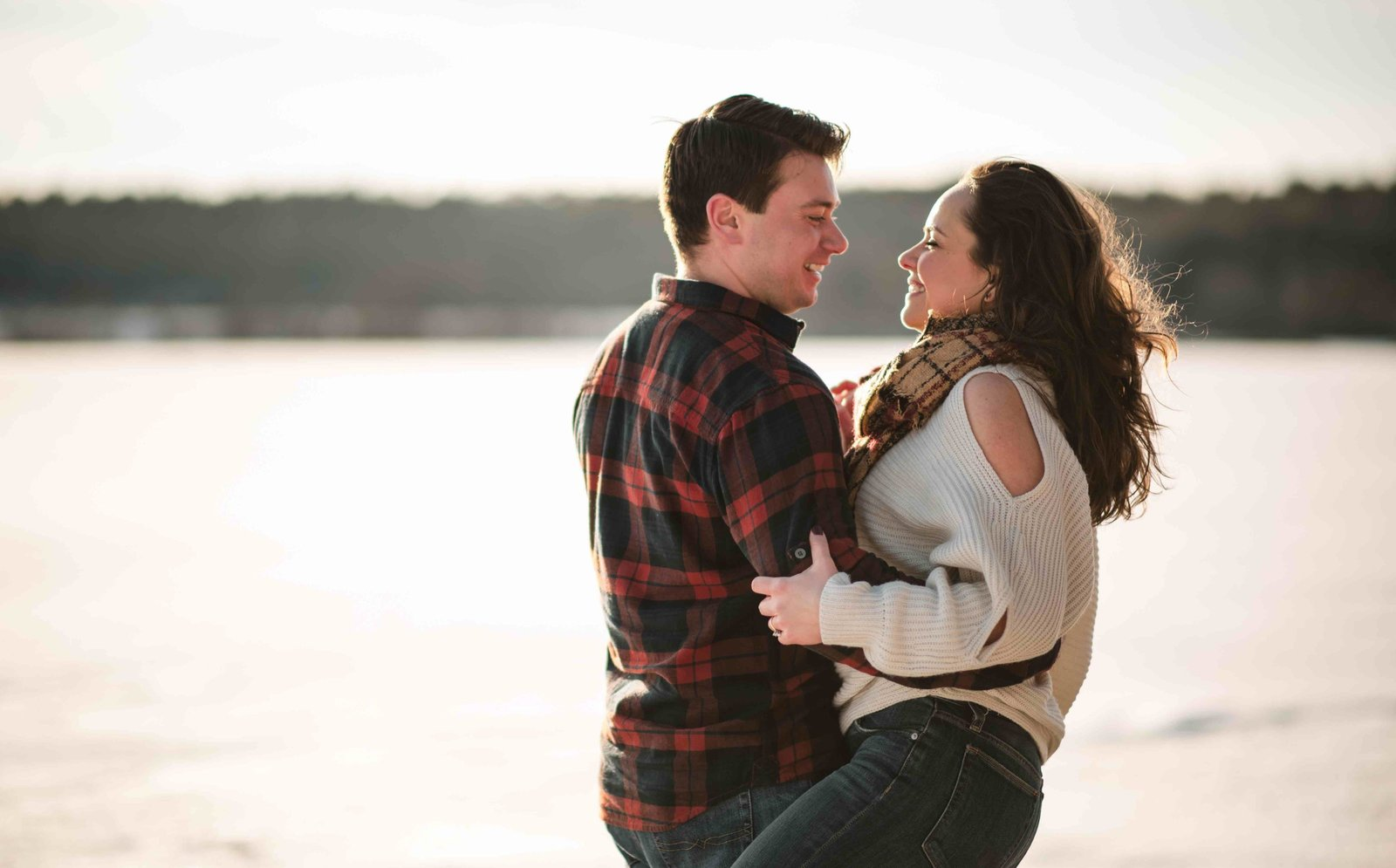04 sunset engagement photos for tunxis country club wedding