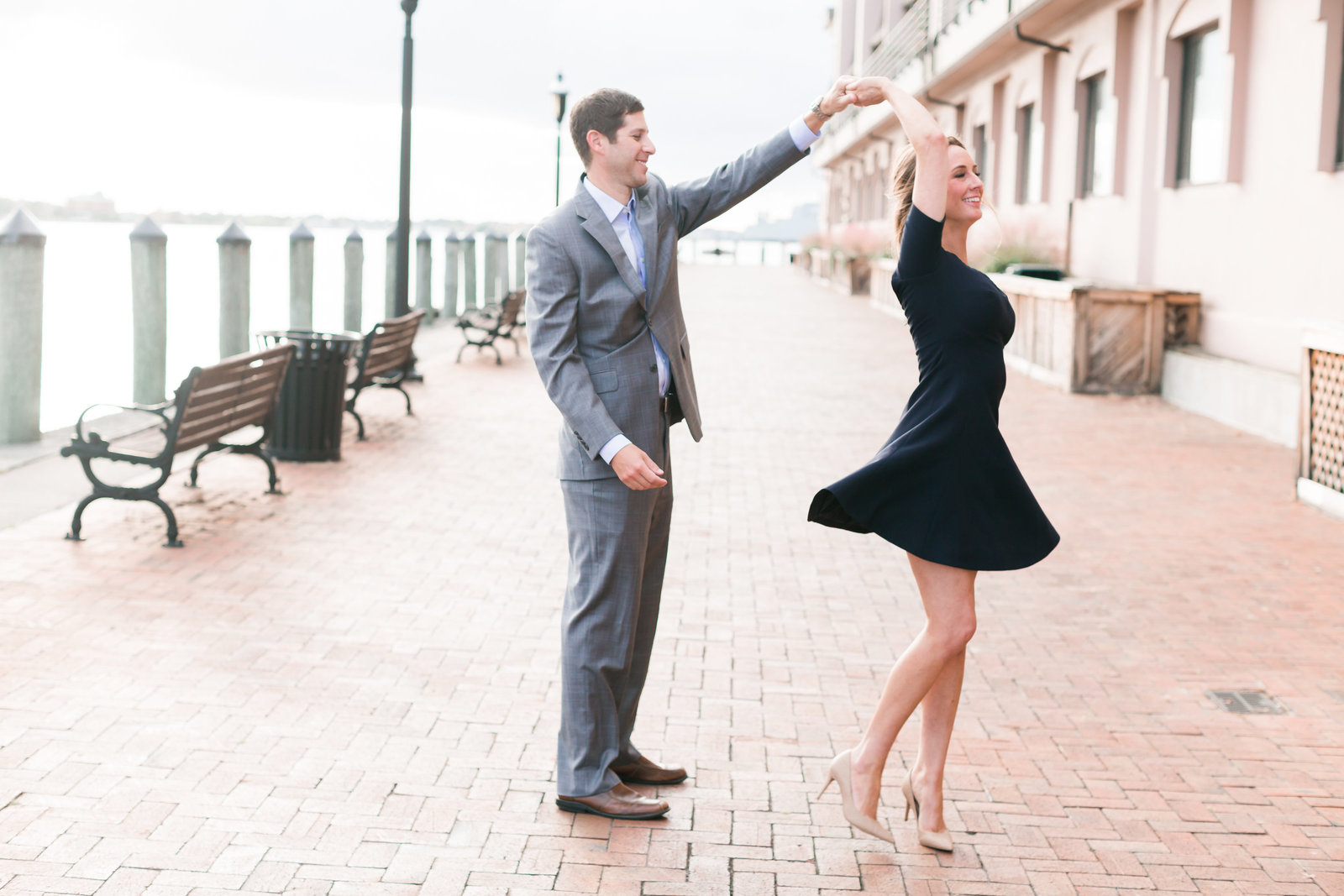 Downtown Norfolk Classic Engagement Session by Elizabeth Friske Photography-3