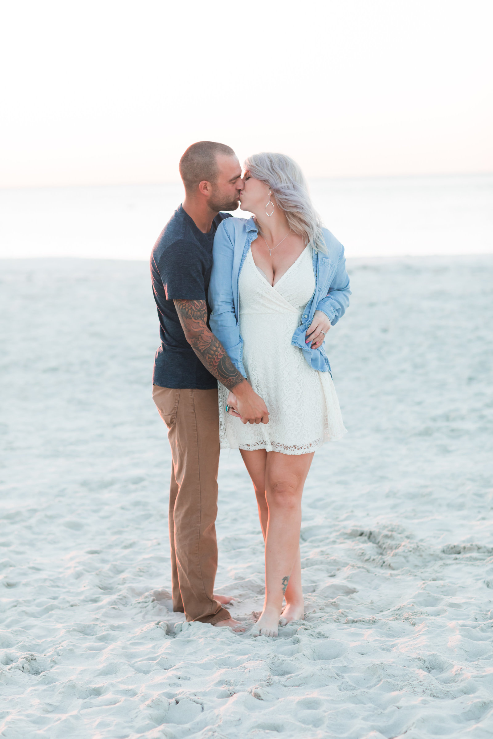 Cape Charles Sunset Engagement Session by Elizabeth Friske Photography-3