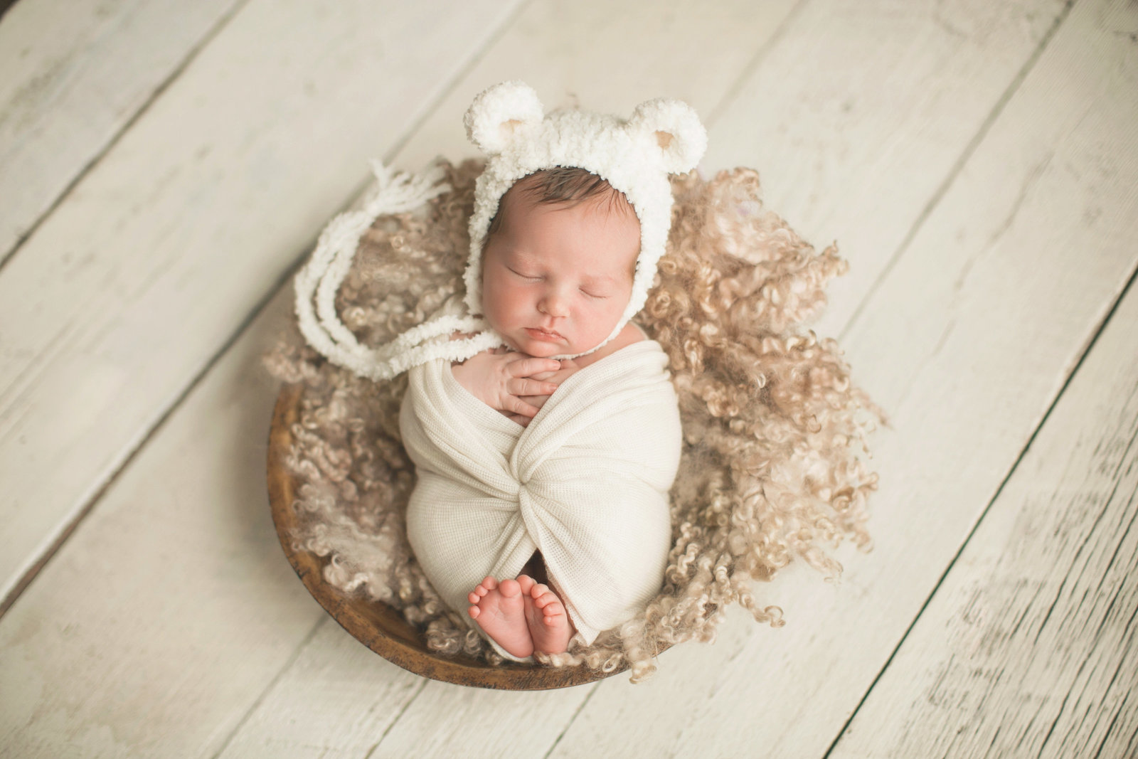 Boise Newborn photographer bear hat