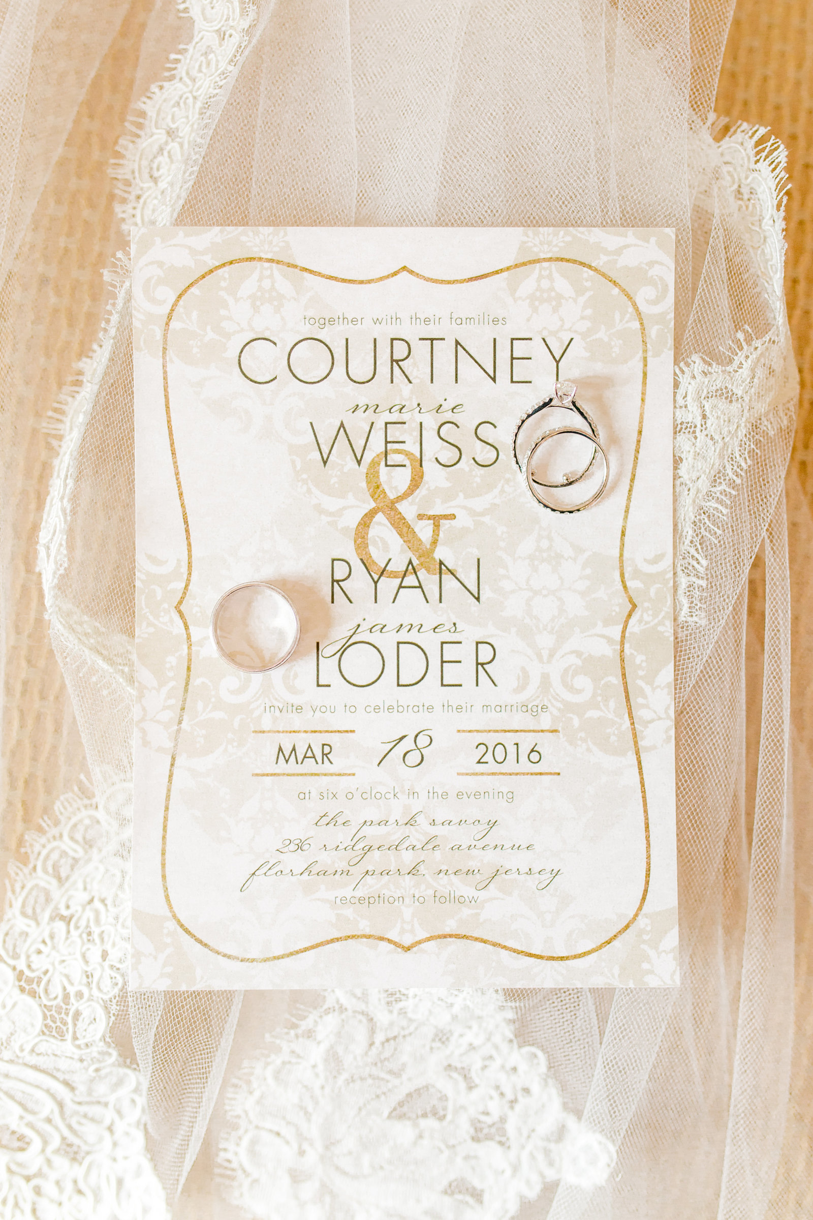 Park Savoy Estate Wedding Invitation