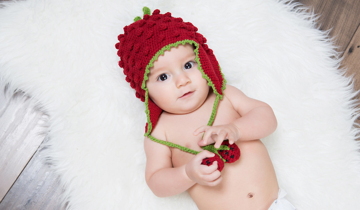 Baby with Hat and Fur