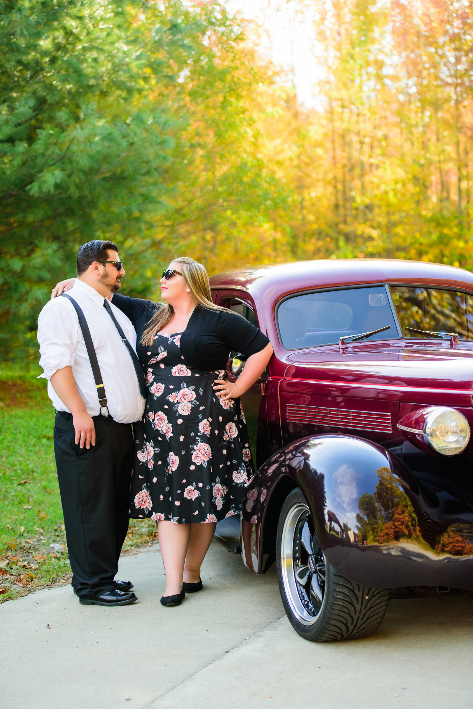 Retro_Pinup_Car_engagement_session_Nj002
