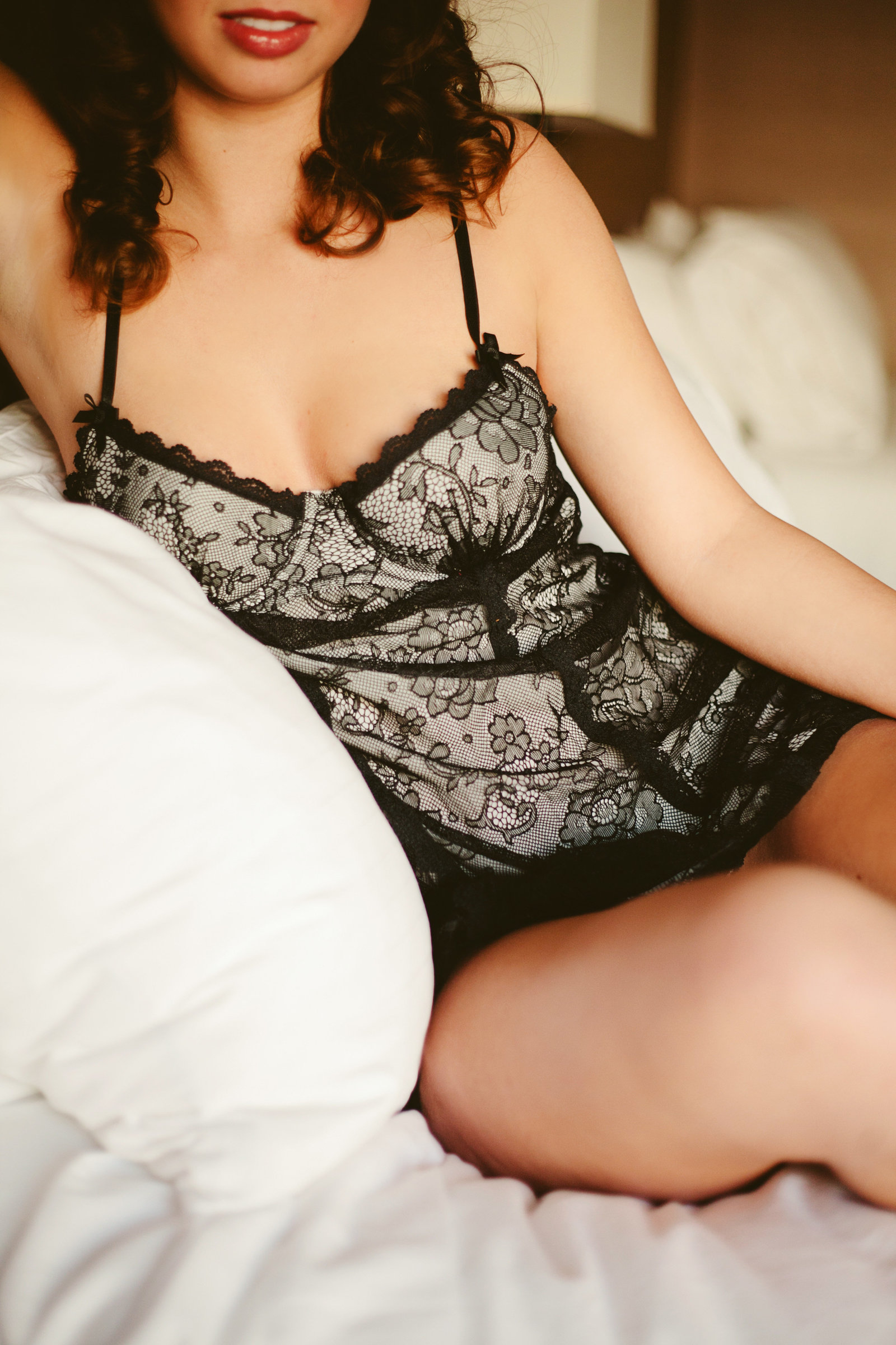 Missoula MT Boudoir Photos Black Lingerie