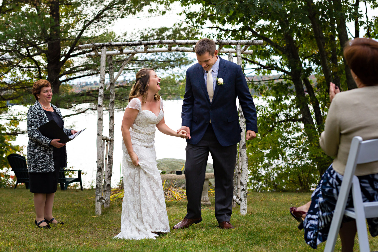 Wolf Cove Inn Maine Elopement Photographers Ceremony Photo