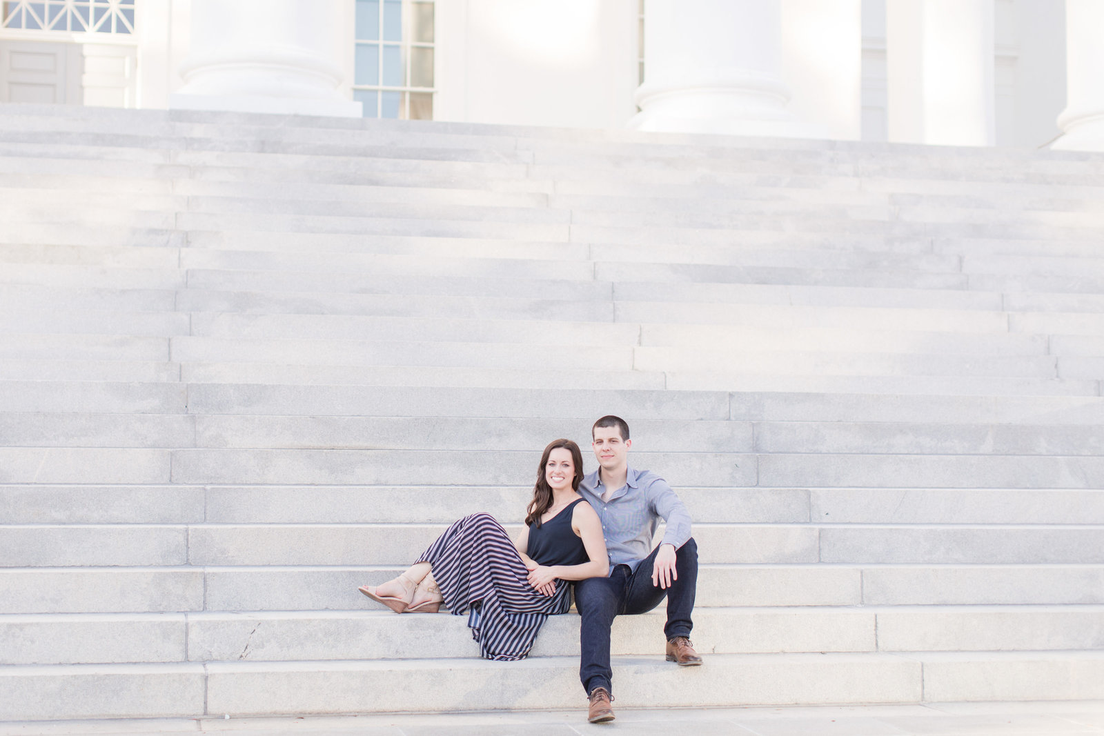 Jennifer & Jake Virginia State Capitol Engagement Photos-26