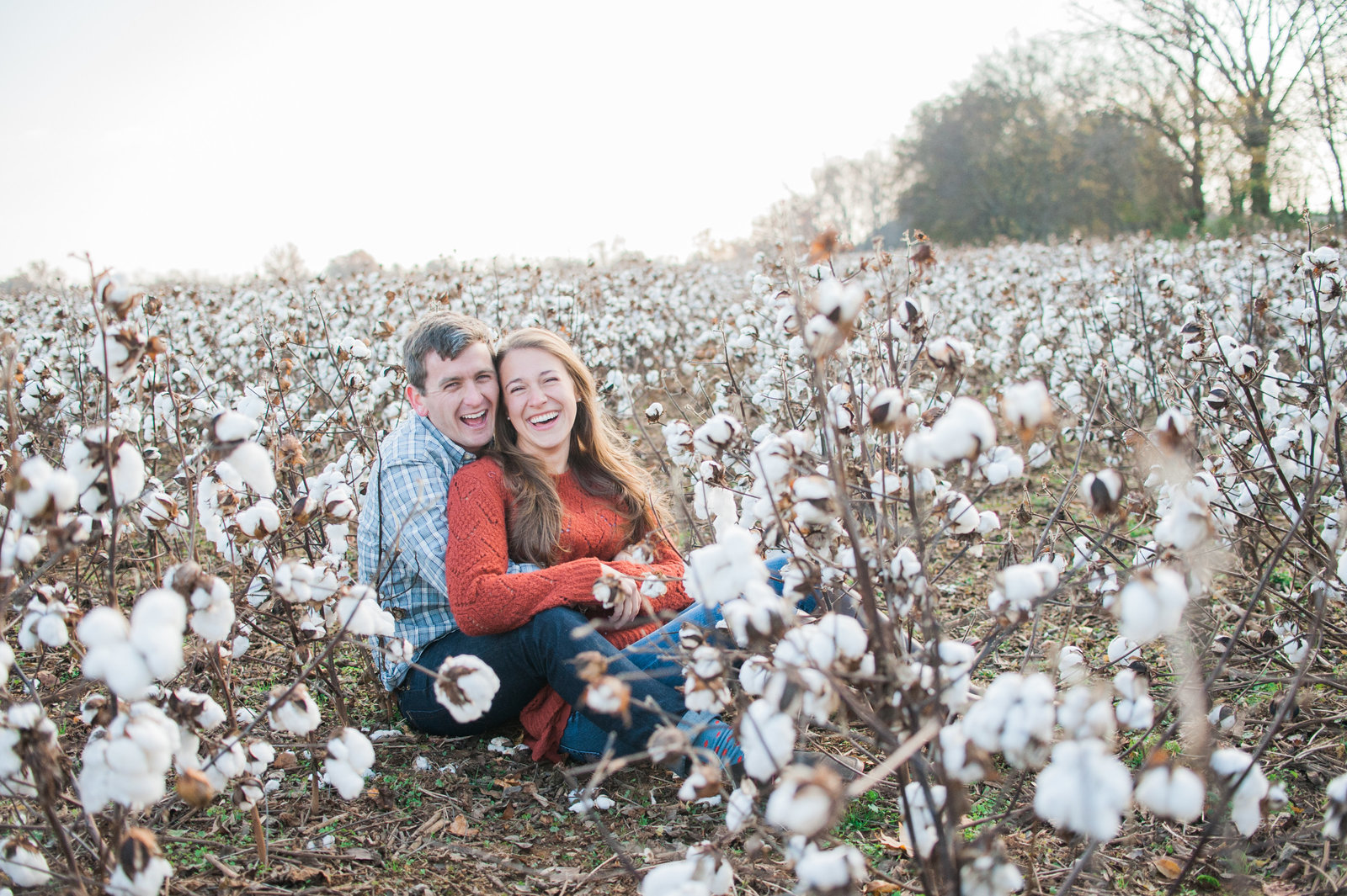 Nashville Engagement session cotton field 2