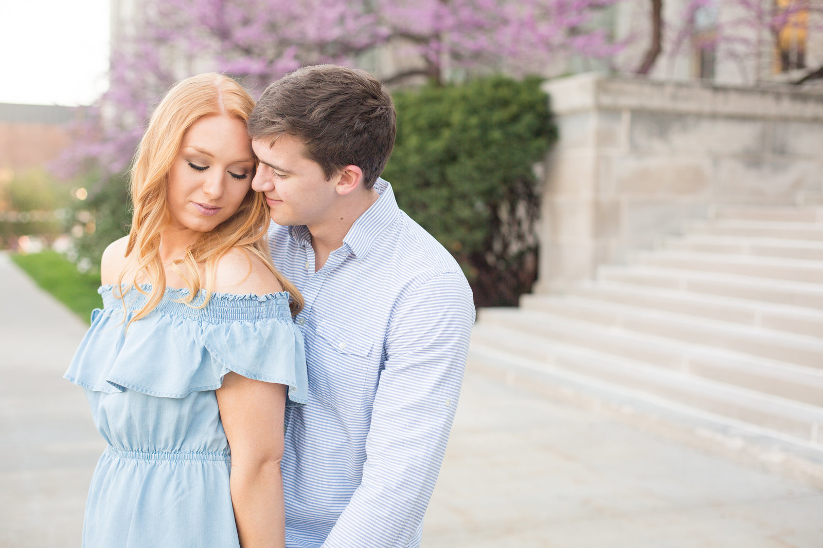 sweet-blue-dress-red-hair-couple-fiance-marriage-love-express-iowa-city-engagement-photo