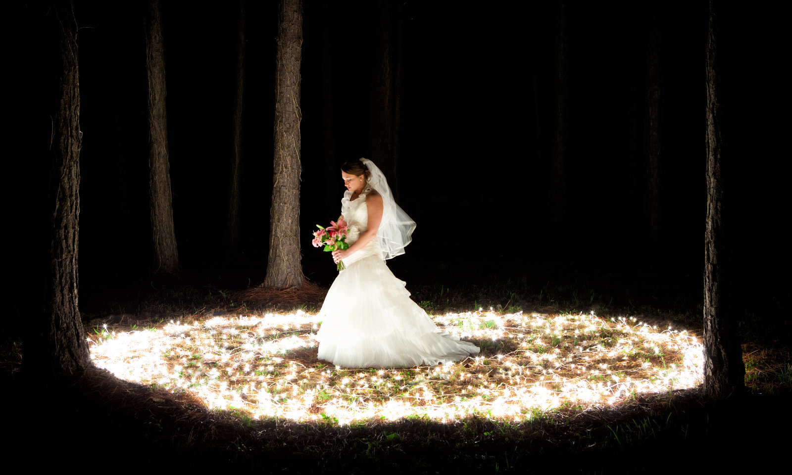 Lauren Eddins epic bridal portrait in Coden, Alabama.