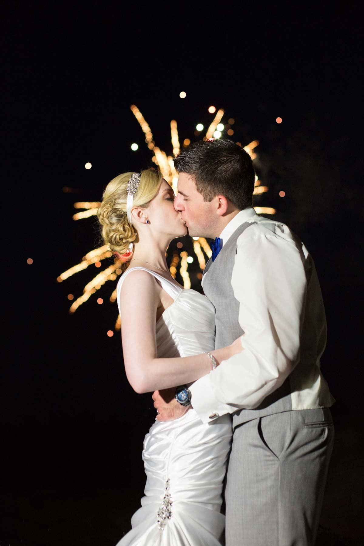 Dover New Hampshire Wedding Photographer Fireworks Image