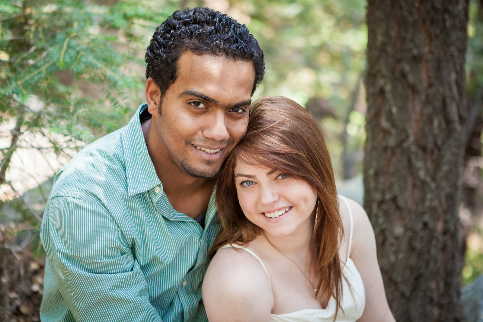 Idyllwild CA Engagement session couple close up