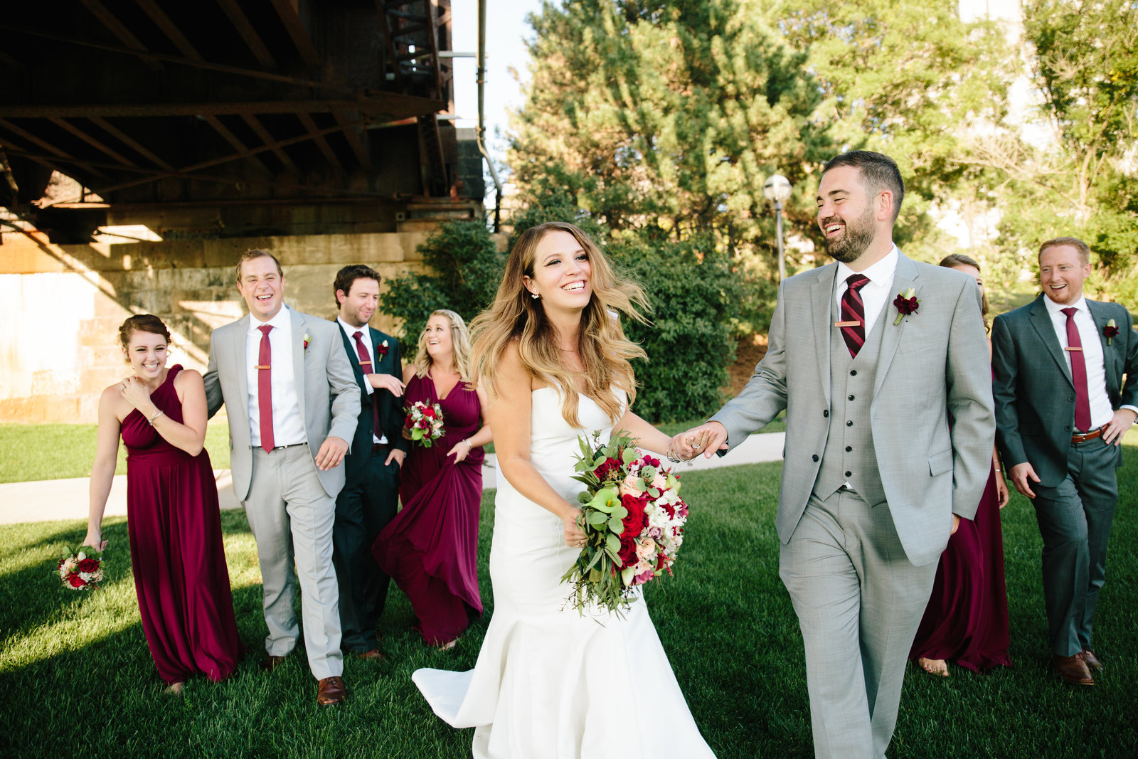 Columbus Ohio wedding at the North Bank Park Pavillon by Austin and Rachel Photography
