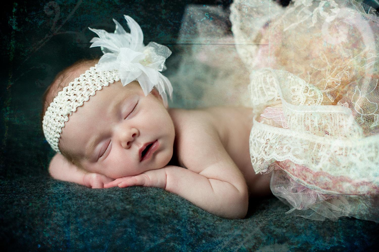 newborn with tutu