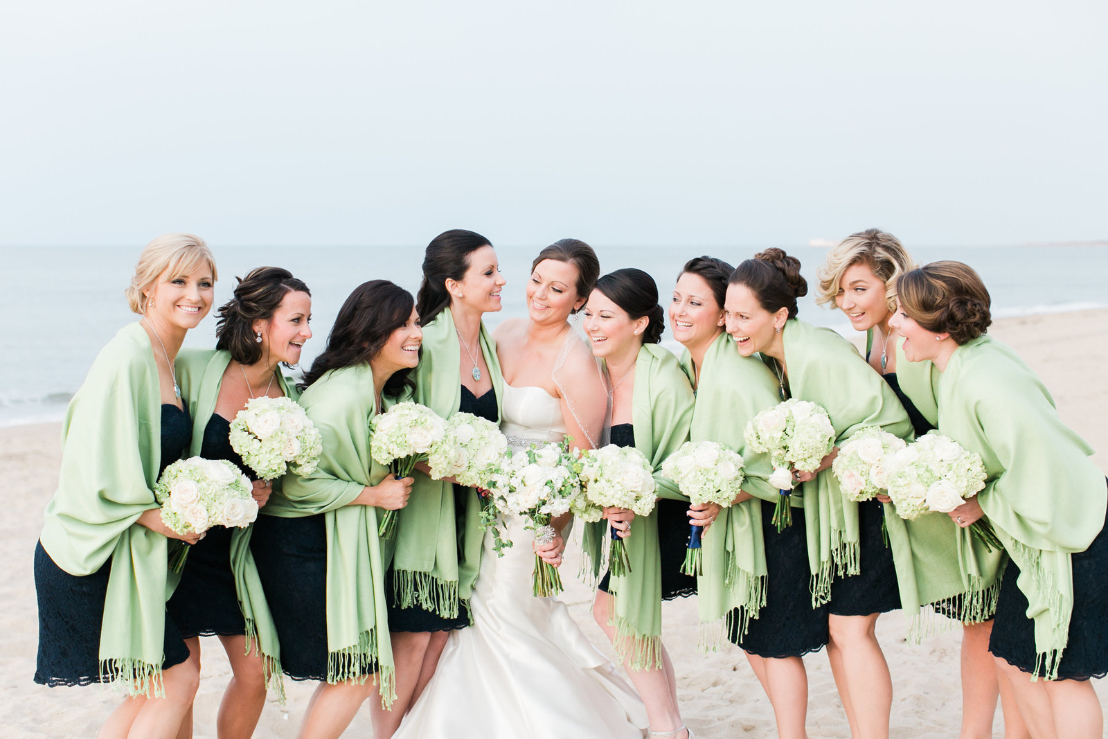 Hilton Virginia Beach Oceanfront Navy and Lime Wedding | Elizabeth Friske Photography | Megan and Harrison-89