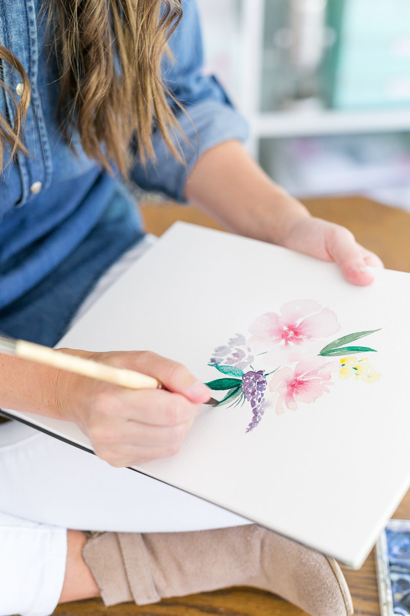 Orlando branding photographer | Cami Monet watercolor artist brand session_-14