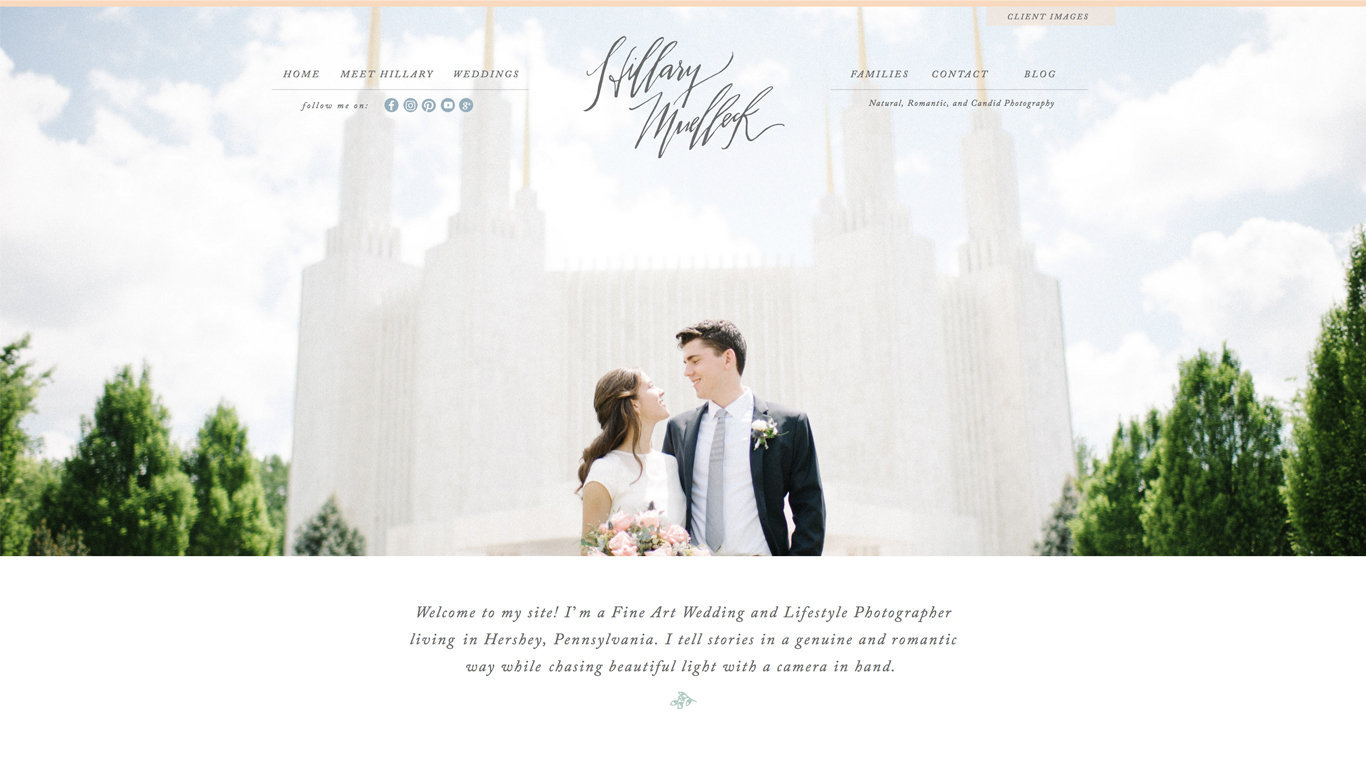 Custom Showit and WordPress design for photographers