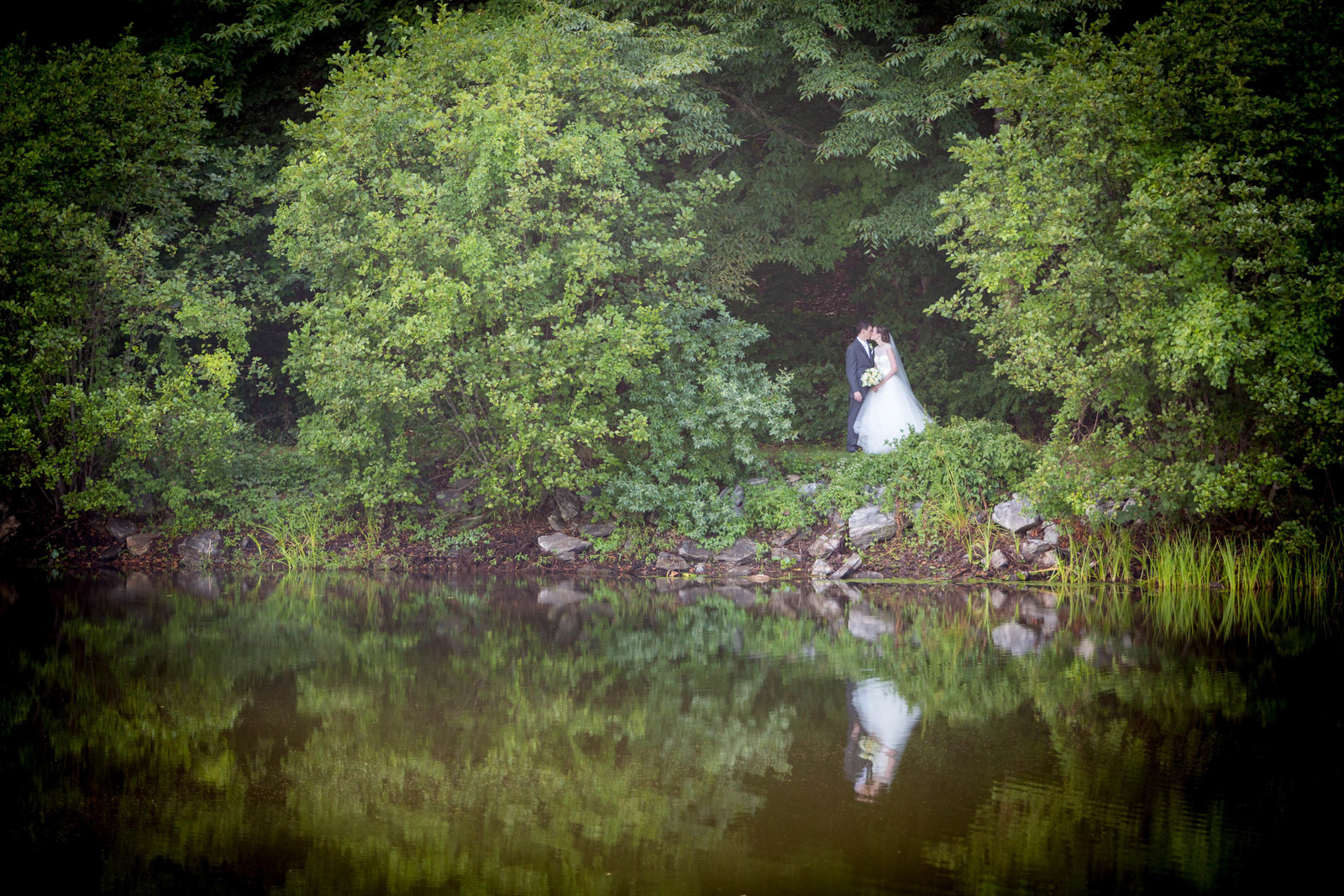 Bride reflection at The Lavendar Farm